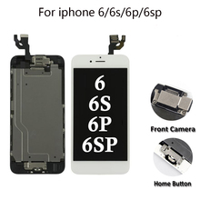 Full Assembly LCD for iPhone 5/6/6s/6P/6SP LCD Display Touch Screen Digitizer Replacement Full Set Ecran with Home button+Camera стоимость