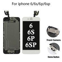 ЖК-дисплей в сборе для iPhone 5/6/6s/6P/6SP, дисплей с сенсорным экраном и дигитайзером, сменный полный комплект, экран с кнопкой возврата и камерой