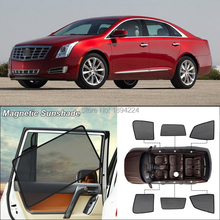 Car Side Windows Magnetic Sun Shade UV Protection Ray Blocking Mesh Visor For Cadillac XTS