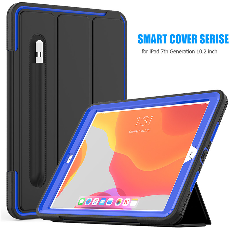 Hard-Cover 7-7th-Generation Shockproof Safe Kids Full-Protection-Case Apple PU iPad for