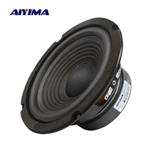 AIYIMA 1Pc 6.5 Inch Subwoofer Speaker 4 Ohm 100W Woofer Speaker Audio Sound Loudspeaker Bass For Home Theater System