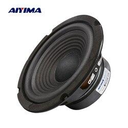Aiyima 1 pc 6.5 Polegada subwoofer alto-falante 4 ohm 100 w woofer alto-falante de som áudio baixo para sistema de cinema em casa