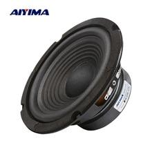 Aiyima 1 pc 6.5 인치 서브 우퍼 스피커 4 ohm 100 w 우퍼 스피커 오디오 사운드 라우드 스피커베이스 홈 시어터 시스템 용