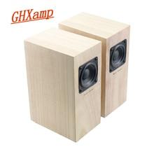 GHXAMP Full Range Wooden Speakers Hifi 2.0 Treble Midrange Bass Balance Clear Passive Loudspeaker Stereo Home Theatre 4ohm 2pcs