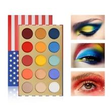 15 color fashion eye shadow palette disc cosmetics matte glitter eyeshadow professional make