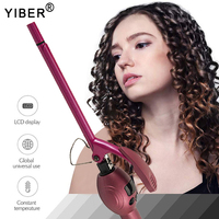 9mm Professional Curling Iron Ceramic Curling Wand Roller Beauty Styling Tools With LCD Display Hair Curlers Unisex Slim Tongs 1