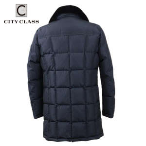 Image 2 - City class Business Parkas kurtka zimowe ciepłe płaszcze futro z norek odpinane Super ciepłe nowe modne kurtki okazjonalne Top