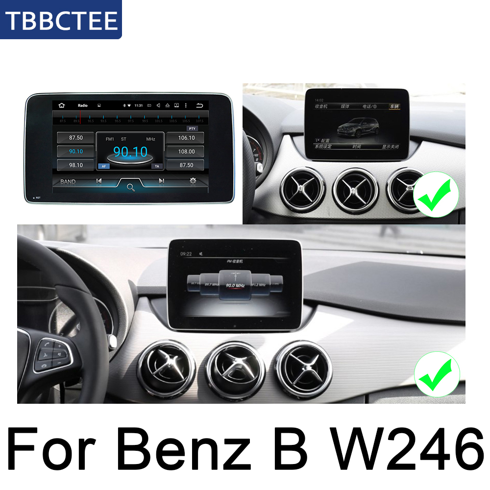 For Mercedes Benz B Class W246 2015~2019 NTG Android Car car multimedia player gps navigation original style HD screen Map