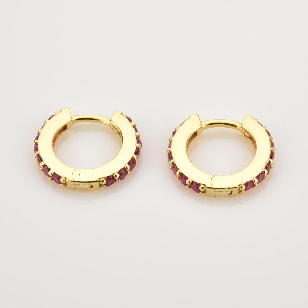 ANDYWEN 925 argent Sterling clair petit 7mm Huggies femmes mode luxe cristal cerceaux Piercing bijoux 4