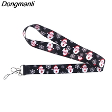 K949 Santa Claus Keychain Phone Lanyard Cartoon Punk Neck Strap for Keys ID Card Cell Phone Lanyards Christmas Gifts mbr cell power neck