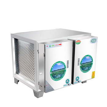 Oil fume purifier high-volume catering kitchen restaurant purifier low-altitude exhaust oil fume processor oil purifier image