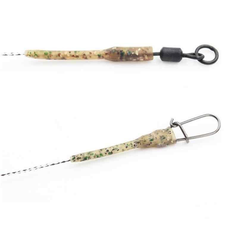 10 Pcs Panjang Terminal Anti Kusut Lengan Terhubung dengan Kait Pancing Carp Fishing Tackle Kamuflase Memancing Aksesoris
