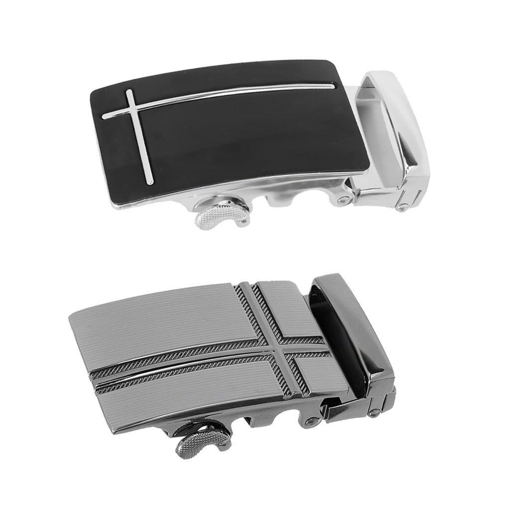 2pcs Man Metal Bult Buckle Fashion Buckle Ratchet Belt Buckle 40mm, Mens Clothing Accessories