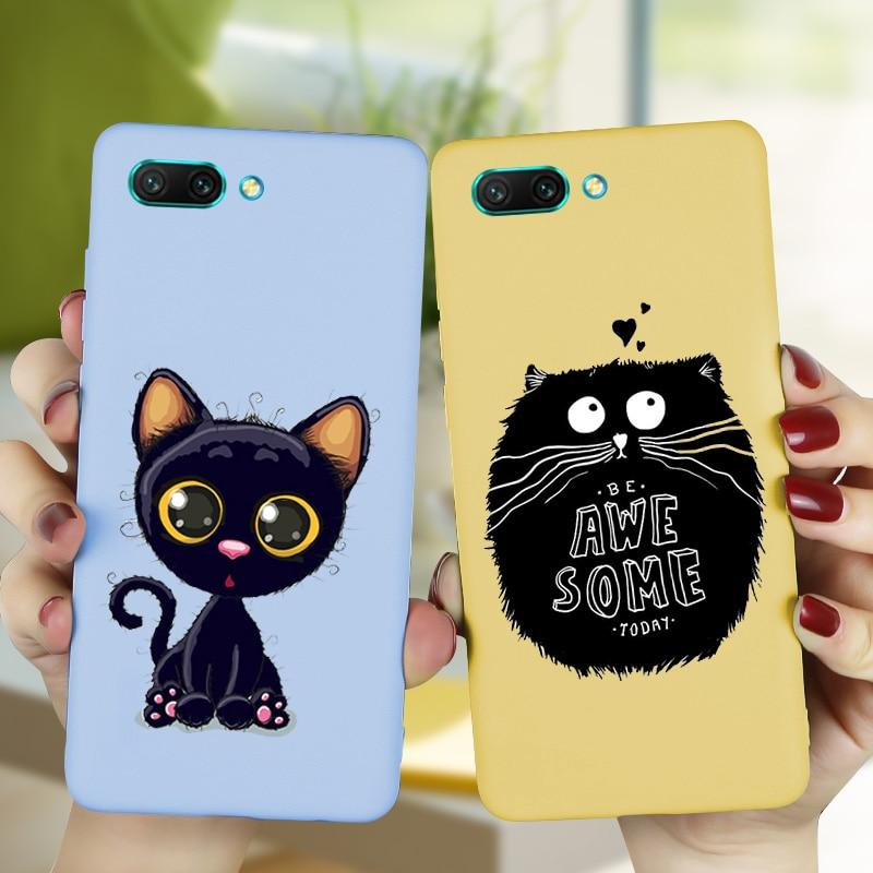 Cute Cats Cartoon Case FOR Huawei Honor 20S 9X View 20 10 10I 20 Lite 9 Lite 8C 8X 8A 8S 7A Pro 7C 9A 9S 9C Cover Silicone Capa