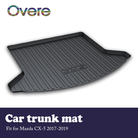 Overe CX-5 1 Conjunto mat tronco traseiro de Carga Do Carro Para Mazda 2017 2018 2019 À Prova D' Água mat Anti-slip tapete boot Forro Tray Acessórios