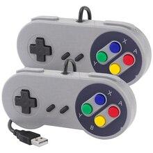 2 قطعة USB غمبد الألعاب المقود SNES أذرع التحكم في ألعاب الفيديو الرجعية غمبد للكمبيوتر نيسبي ريتروبي لعبة التحكم عن التوت بي 4 B