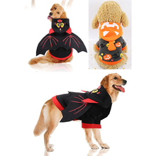 Halloween Cat Dog Bat Wings Clothes Small Dogs Christmas Party Sweatshirt Pet Funny Costume And Winter Hoodies