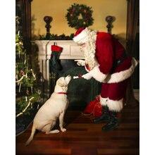 Diy картина по номерам Санта Клаус комплект маслом Рождество