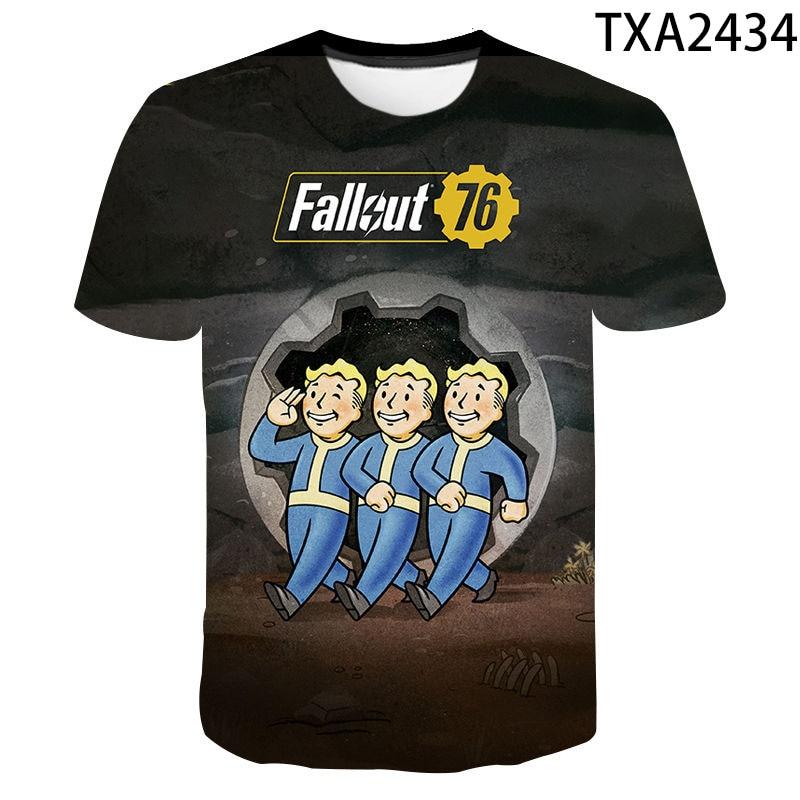 Vault Tec Gaming Video Game Fallout 76 2 3 4 Tee Tops T Shirts Men Women Children Casual Fashion T-shirt Vault-Tec Boy Girl Kids