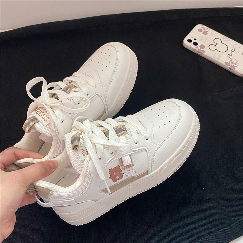 2021 Summer New Daily Skin Tone Flat with Low Round Head Lace Sgs Female Spot Injection Shoes Sports Shoes