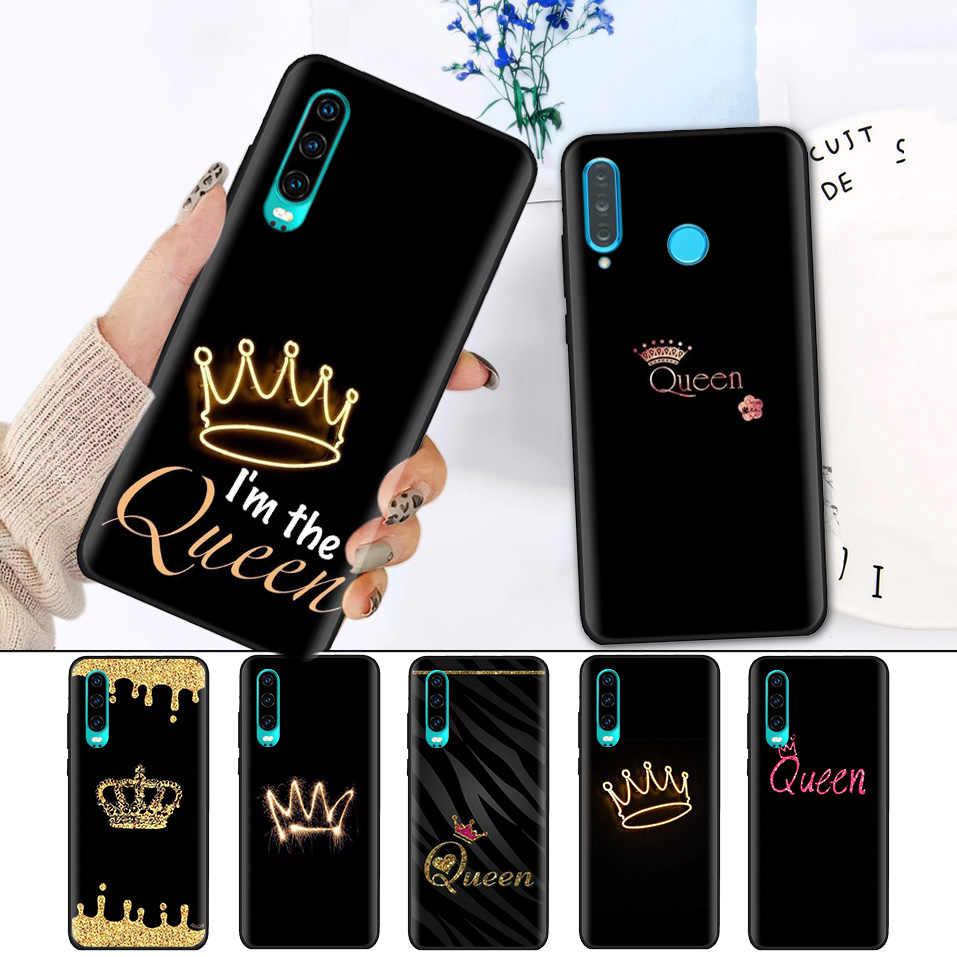 Ốp Silicon Đen Viền Ốp Lưng cho Huawei P30 P20 P10 Giao Phối 30 20 10 Nova 5 5I Lite Pro P Thông Minh Z Plus 2019 Vỏ Capa Thái Của Bà Vua