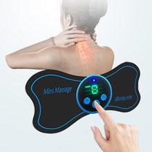 Parte traseira e ombro pescoço massager do corpo multifuncional massagem esteira coluna cervical mini massageador elétrico