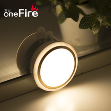 Onefire Toilet/wc LED Motion Sensors Lights Bulb With Sensor Night Light Battery Operated Switch Closet/Cabinet Lighting