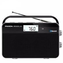 Mini Bluetooth Radio Portable Two band Radio with Telescopic Antenna FM/MW Stereo Radio Wireless Signal Digital Receiver Station