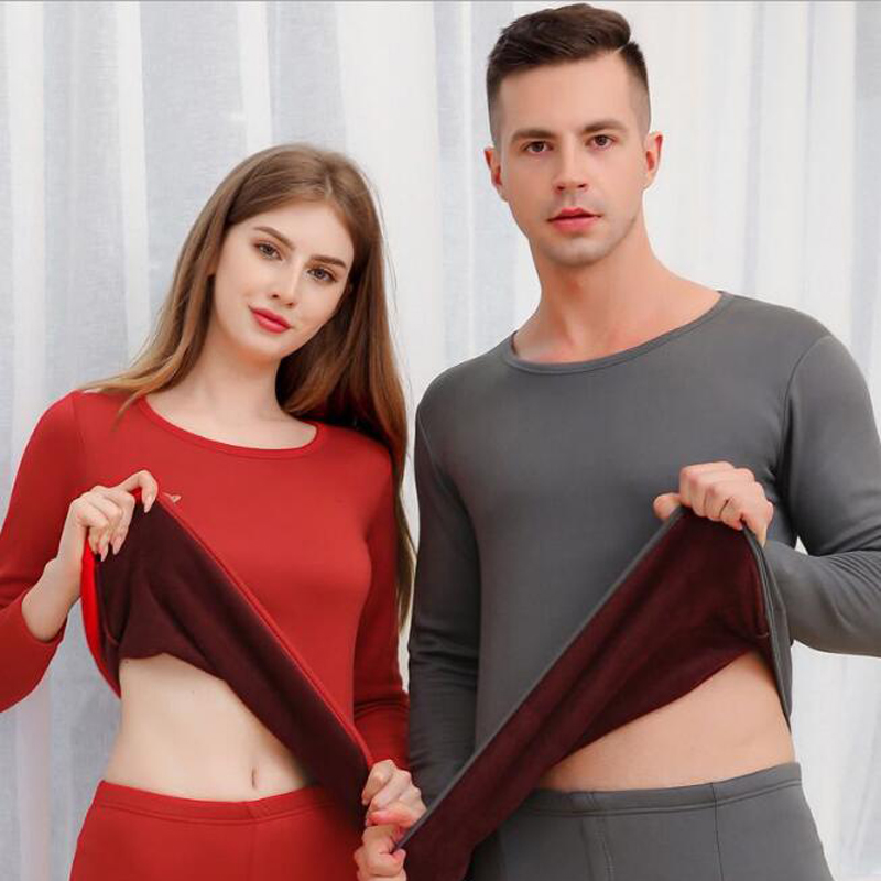 New Arrival Thick Velvet Warm Thermal Underwear Set Long Johns For Male Female Warm Thermal Clothing Men Woman Winter Suit Wear