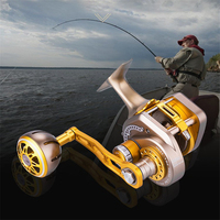13+2BB 6.3:1 Fishing Reel Automatic Line Guide Saltwater Boat Fishing Reel Stainless Steel Guide Rod Cable Drum Fishing Reel