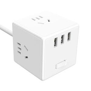 Image 3 - ใหม่ Xiaomi Mijia 2 In 1 Magic Cube USB Power Strip Adapter 6พอร์ต Socket Converter Mini Travel Socket ปลั๊ก Strip