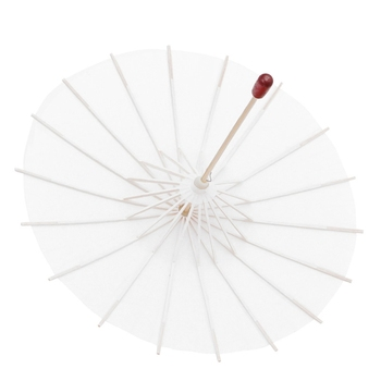 White Blank Chinese Paper Umbrella Parasol Kid Painting DIY Craft Christmas Gift Y51B