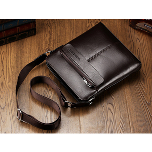 Image 3 - Retro Men Satchels Crossbody Bags Business Small Briefcase Shoulder Bag Man Luxury Brand Casual Messenger Bag Male Pu Leather