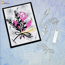 Kokorosa Cutting Dies Metal Branch Flower Die Scrapbooking Album Card Making Embossing Stencil Decor Diecuts