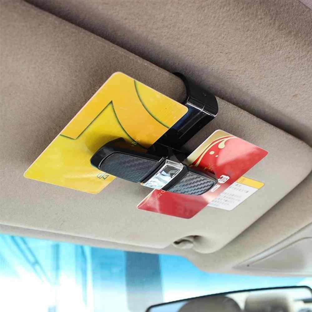 רכב מגן שמש משקפי שמש מחזיק קליפ אוניברסלי שחור כרטיס כרטיס מהדק אטב Cip רכב משקפיים מקרי נייד