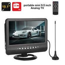 Reproductor Multimedia de vídeo para coche, radio 3D de 9,5 pulgadas, DVD, televisor portátil de ángulo de visión amplio, TV analógica, enchufe de EE. UU.