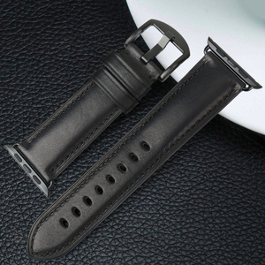 Image 3 - MAIKES Genuine Leather Watch Band For Apple Watch 44mm 42mm 40mm 38mm Series 4/3/2/1 Men & Women iWatch Strap Watchband