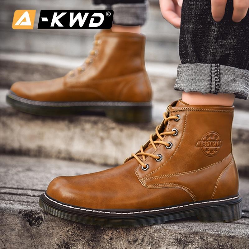 Mode noir marron bleu vert bottines haut haut outillage chaussures hommes Chealsea bottes hommes hommes bottes décontracté en cuir Pu homme bottes - 4