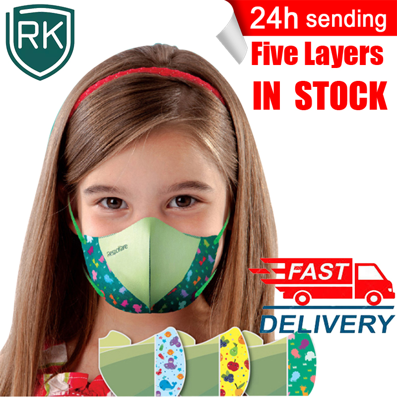 Respokare Child Masks Five-layers Anti-pollution Mouth Face Masks Safety Protective Mascarillas Anti-PM 2.5 Breathing Masque