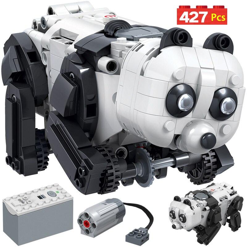 427PCS City Technology Assembly Building Blocks Technic Electric Panda Animal Robot Bricks Toys Christmas Gift For Kids