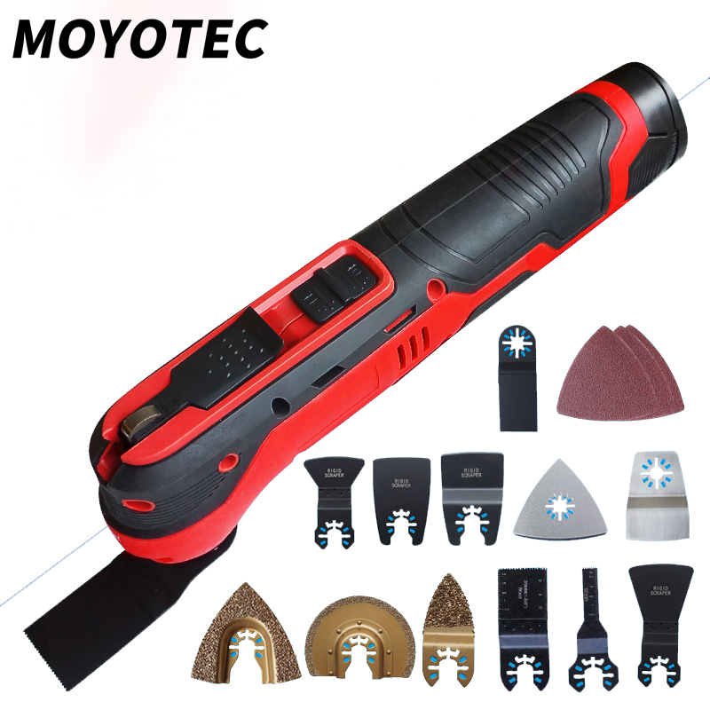 MOYOTEC 12V Cordless Oscillating Tool Multi Function Tool Lithium Battery Trimmer Power Tool Multimaster Oscillating Tool