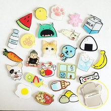 1PCs/Set Cartoon Cat Bird Milk Egg Dog Brooch Acrylic Badges Icons On The Backpack Pin Badge Decoration For Clothing