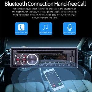 Image 4 - 1 عرض سيارة CD DVD VCD لاعب بلوتوث 4.0 يدوي راديو FM إخراج الفيديو الموسيقى مشغل ديفيدي/USB/AUX/TF LCD السيارات الوسائط المتعددة