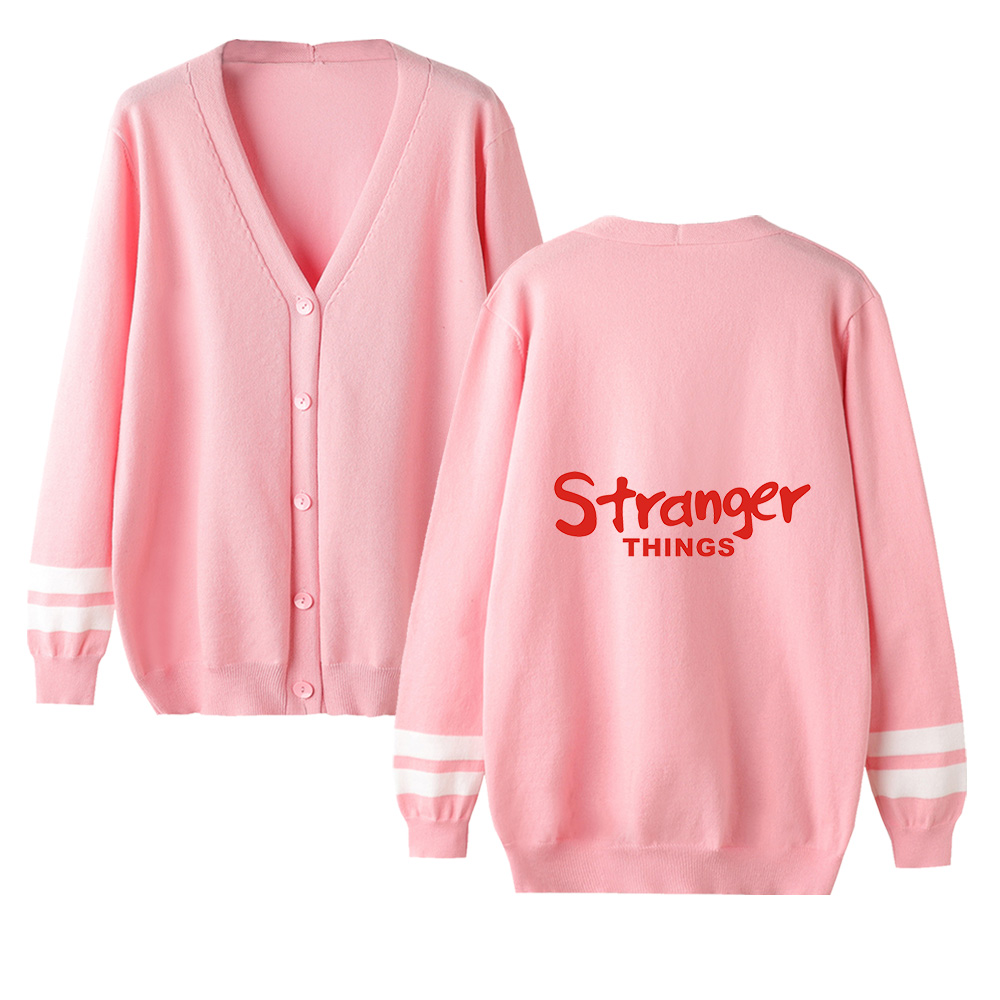 Stranger Things V-neck Cardigan Sweater Men/women Autumn Winter Hot Fashion Long Sleeve Warm Outwear Knitted Sweater Casual Tops