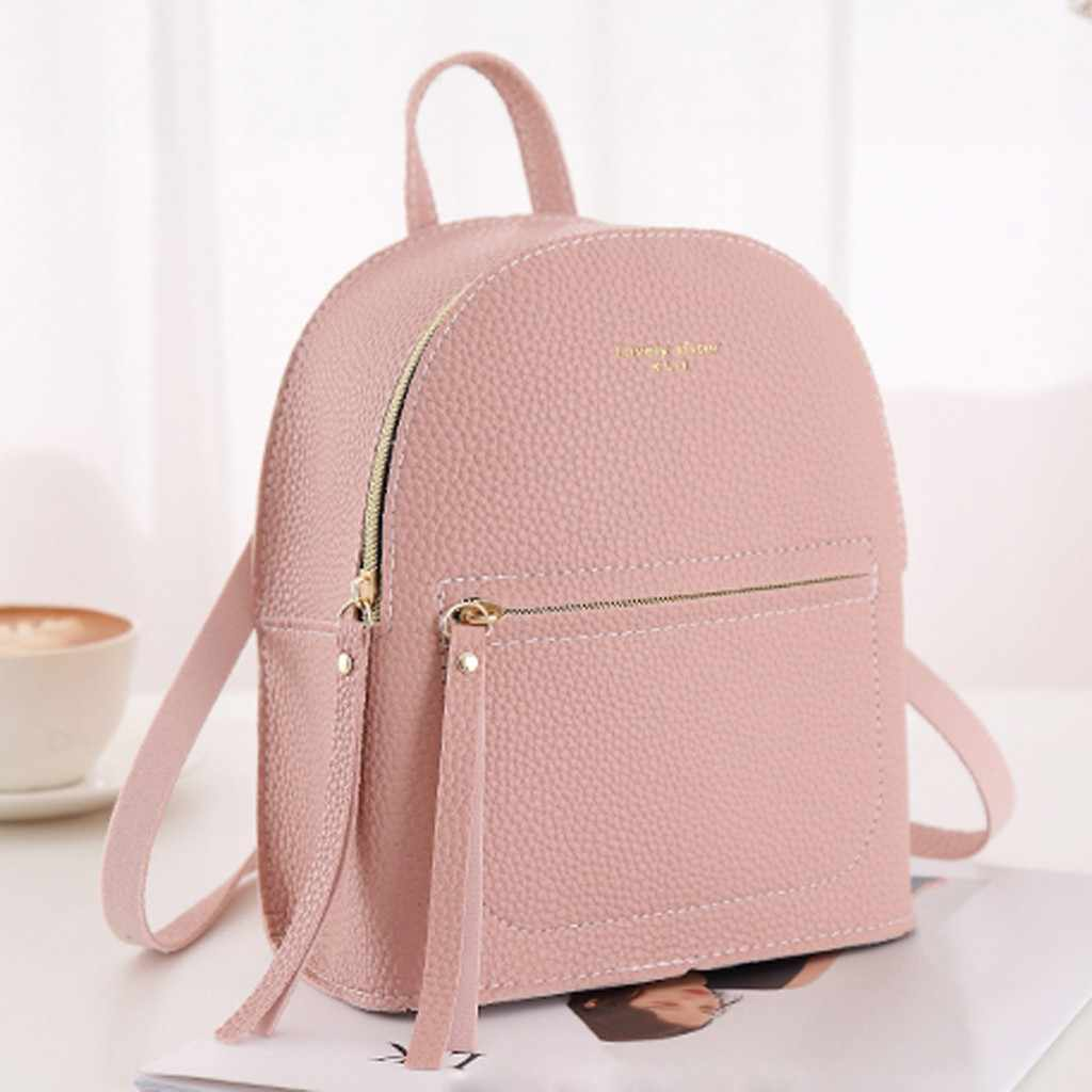 2019 Top Female Backpack Women Fashion Lady Shoulders Small Femal Backpack Letter Purse Mobile Phone Bag bolso mujer#25