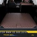 Для BMW X5 G05 2019 автомобильный Стайлинг кожаный коврик для багажника коврик для ковра подушка для грузового лайнера аксессуары для интерьера