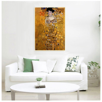 Portrait Of Adele Bloch Canvas Paintings On The Wall Gustav Klimt Kiss Paintings Reproductions Canvas Prints For Living Room image