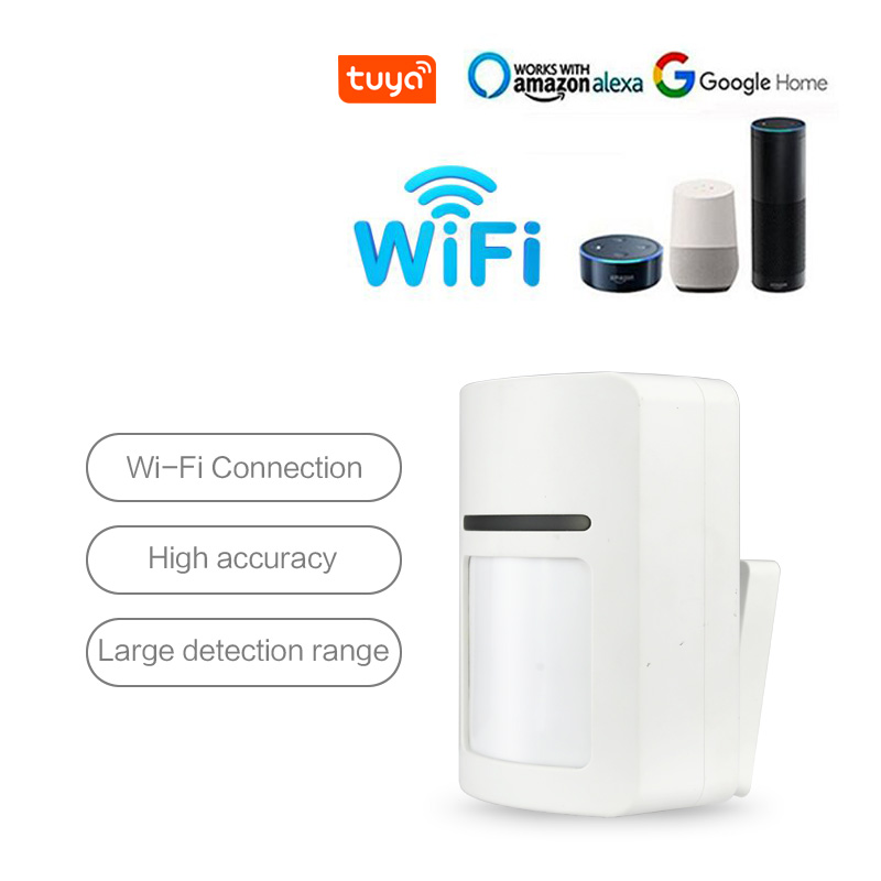 Tuya Smart WiFi Infrared Motion Detector PIR Security Alarm Compatible Amazon Alexa Google Home IFTTT Tuya APP Remote Control