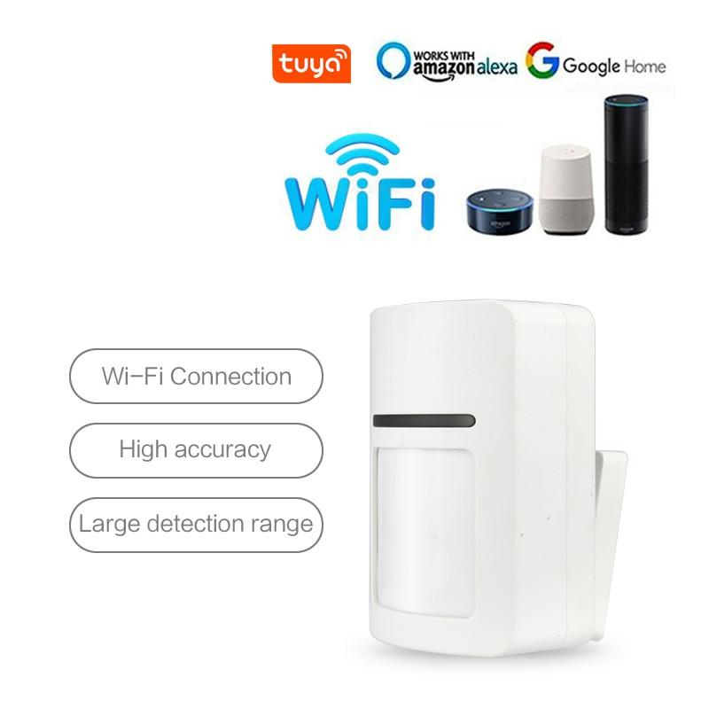 Tuya Smart WiFi Infrared Motion Detector PIR Security Alarm Compatible Amazon Alexa Google Home IFTTT Tuya APP Remote Control