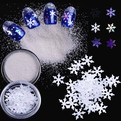 1Box Ultrathin Laser Glitter Sequins Snowflakes Shape New Year Nail Art Decoration Holographic Christmas Decor Confetti GLX1-30